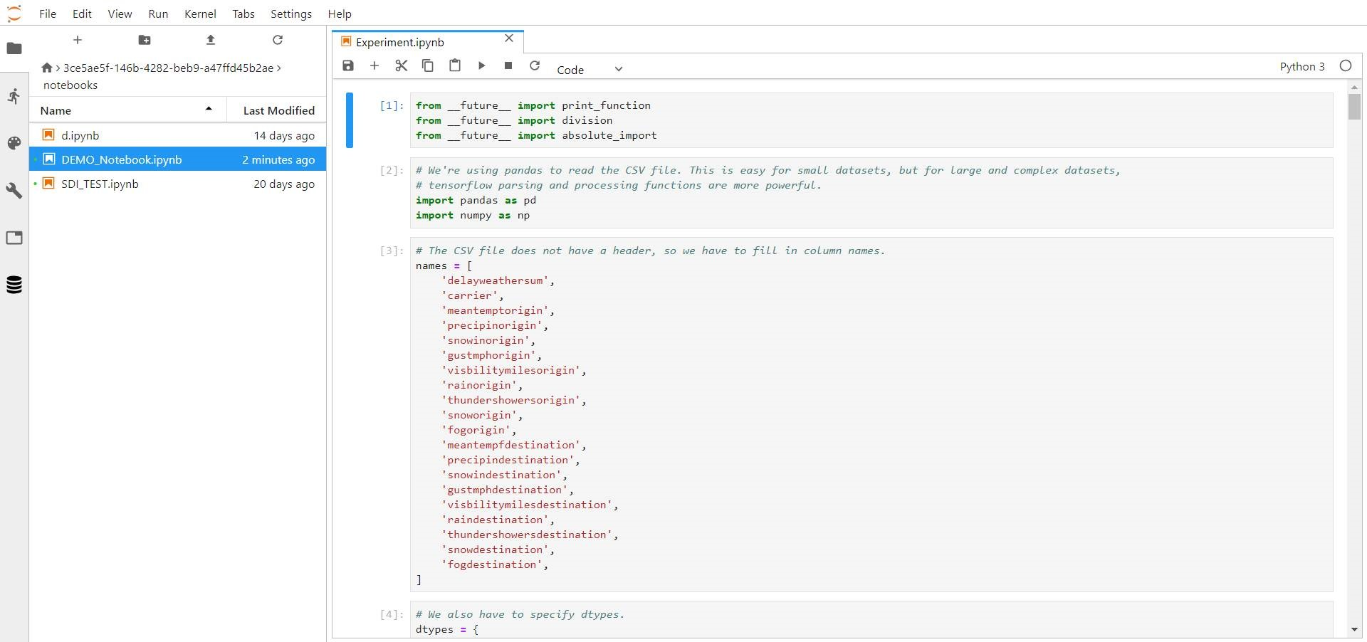 Tensorflow Dataset From Csv File
