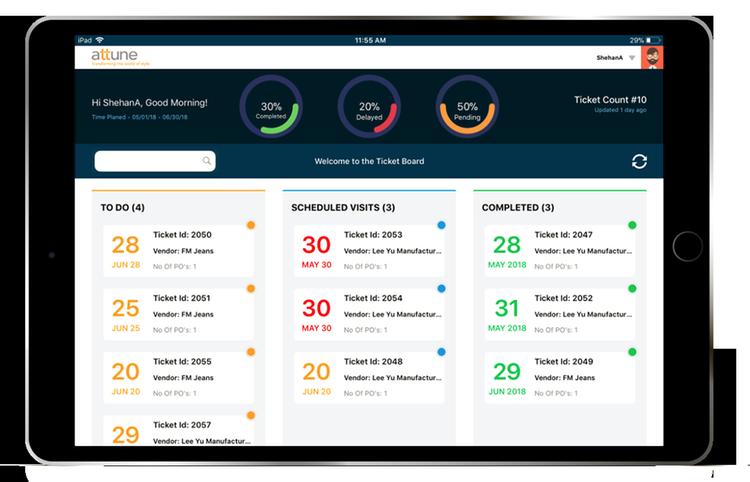 QC Mobile App - Dashboard